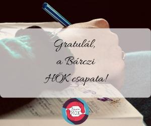 Gratulál a Bárczi HÖK csapata! (2)